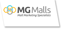 MG Malls – Nationwide In-Mall Advertising Sticky Logo